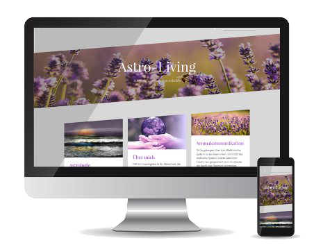 Referenz-Webseite Astro-Living