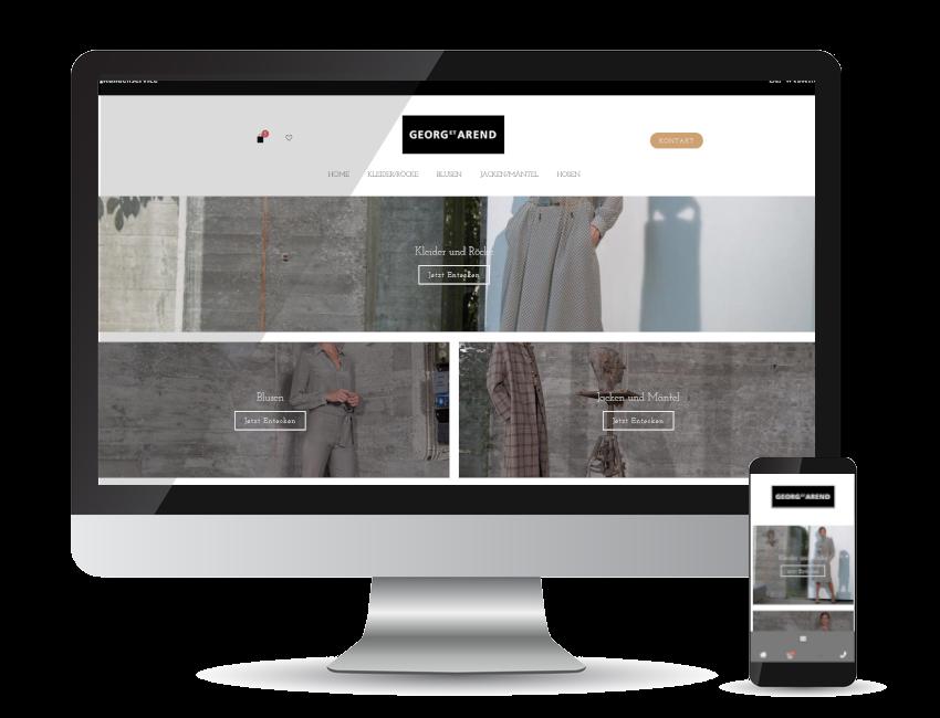 Referenz Webshop - Georg et Arend