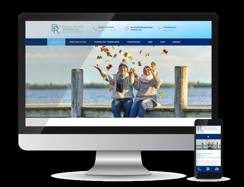 Referenz Webseite - Pflegedienst Riederle