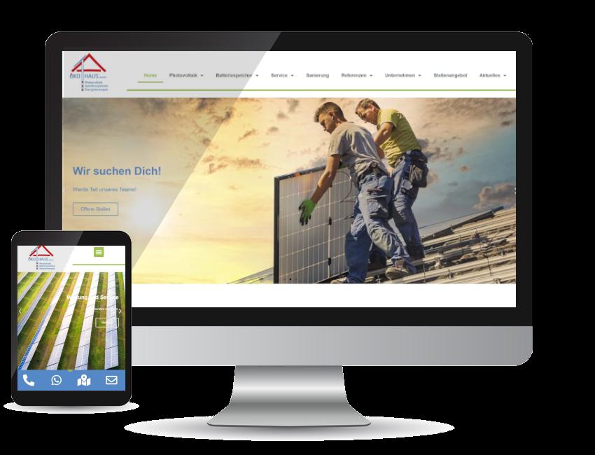 Referenz Webseite - ÖKO-HAUS GmbH