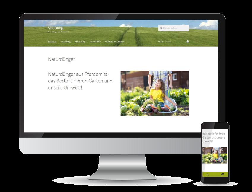 Referenz Web-Shop - Vitadung