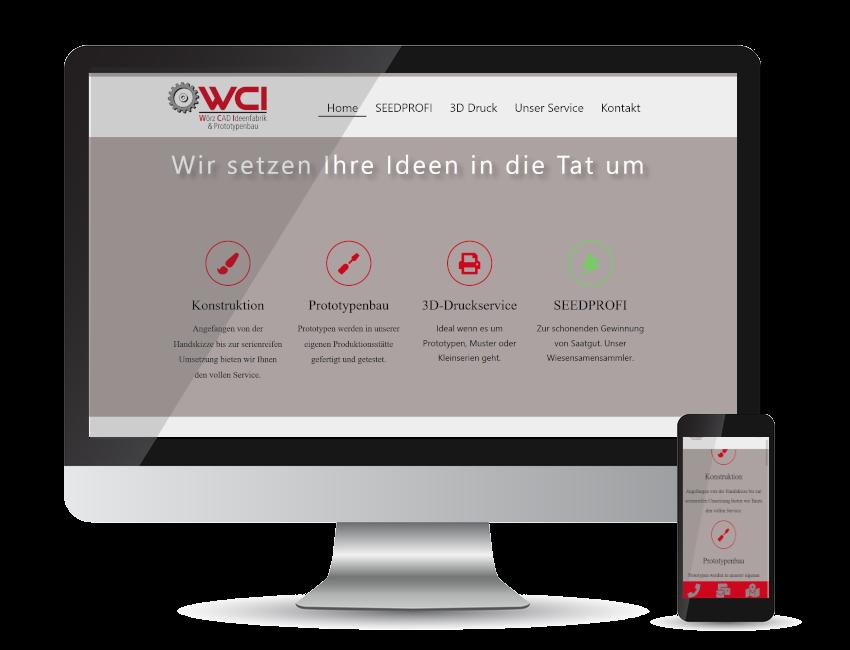 Referenz Webseite - WCI Wörz