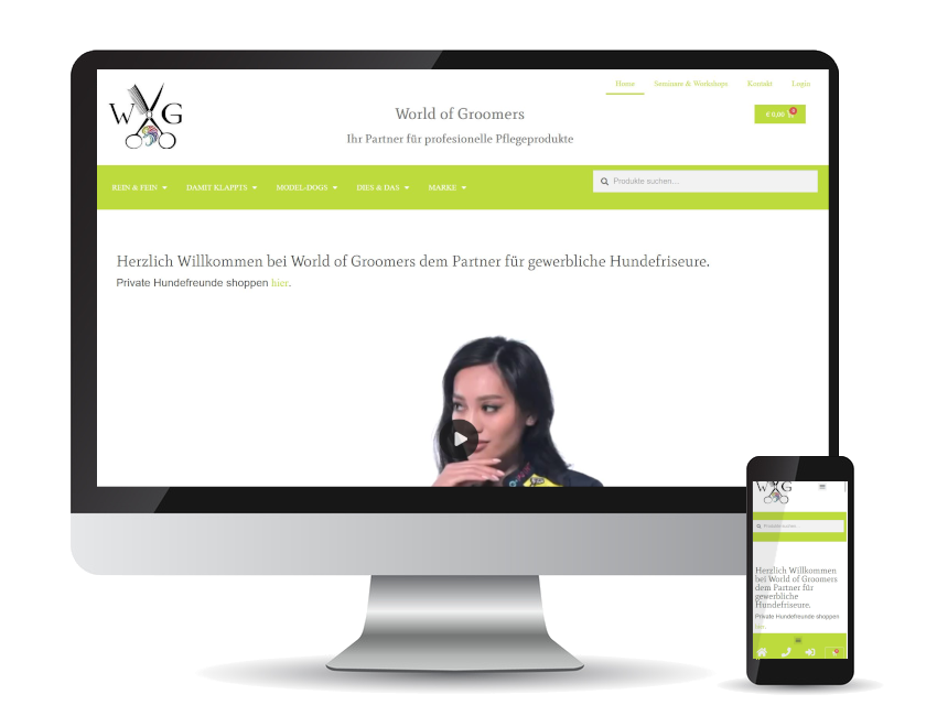 Referenz Web-Shop - World of Groomers